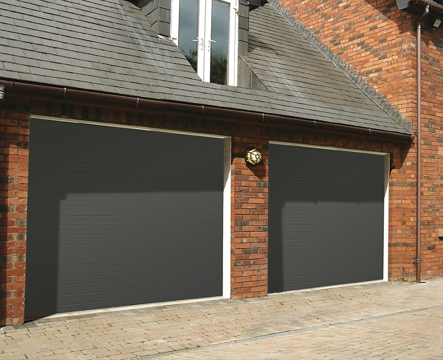 Seceuroglide Insulated Sectional Garage Doors Ribbed
